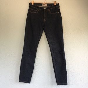 Everlane 26 skinny high rise jeans dark 28 inseam